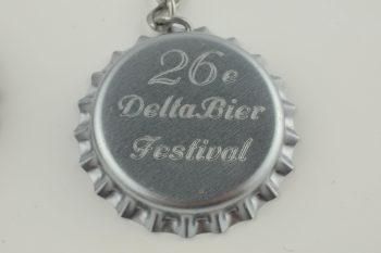 delta bier festival, bierdopje sleutelhanger, delta bier festival sleutelhanger, zilveren sleutelhanger
