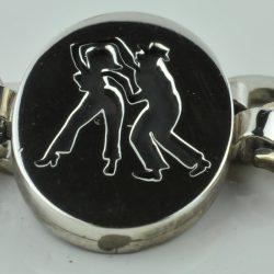salsa dans armband, zilveren armband, origineel ontwerp armband, zilveren salsa armband, origineel bedrijfs cadeau, origineel relatiegeschenk, relatiegeschenk zilver