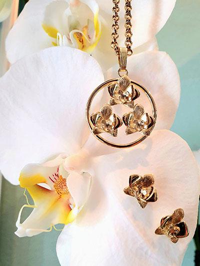 orchidee sieraad