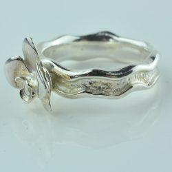 zilveren ring, orchidee ring van zilver, ring zilver, te koop zilveren ring, speciale ring van zilver, originele zilveren ring