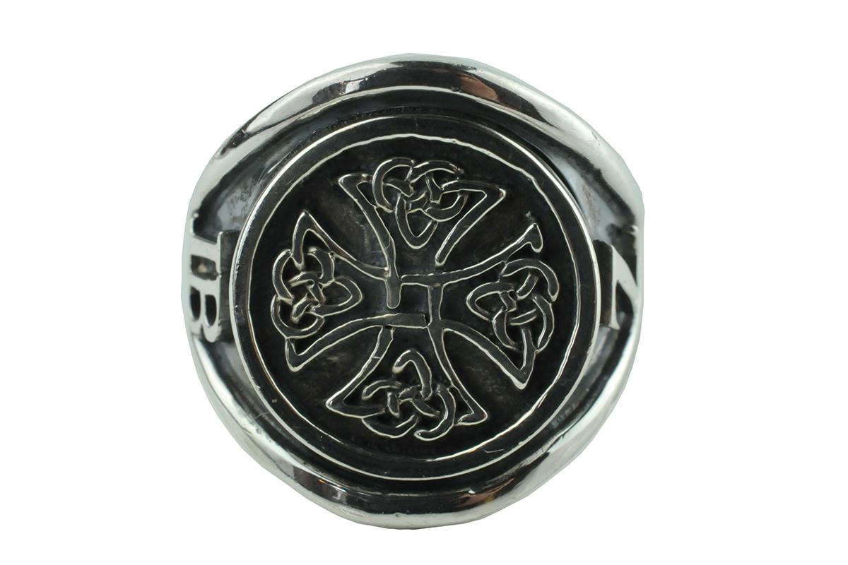 keltic cross biker ring, keltische kruis biker ring