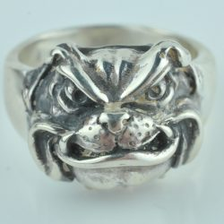 bulldog ring sterling zilver