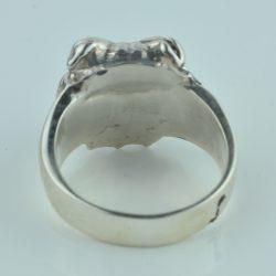bulldog ring sterling zilver