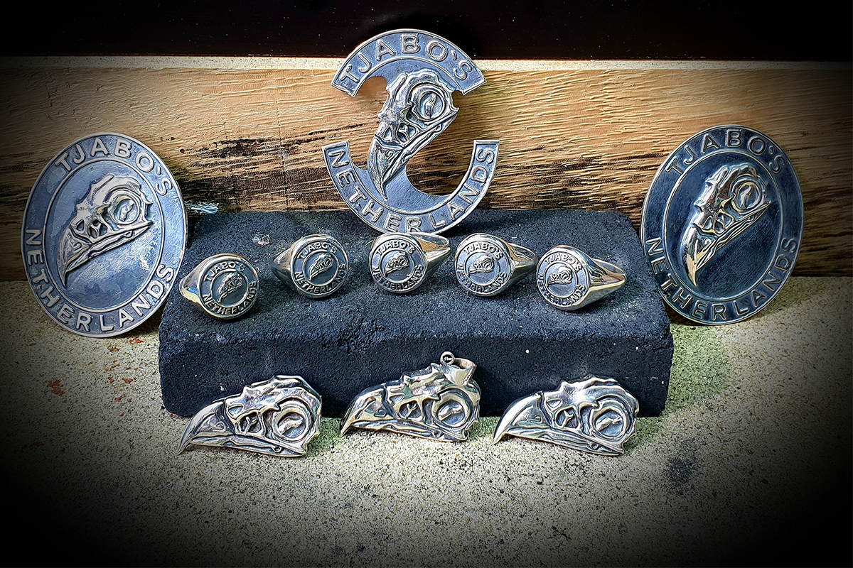 biker pins and rings, biker pins en ringen
