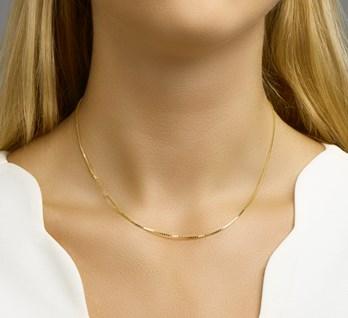 Gouden collier venetiaans 1,1 mm